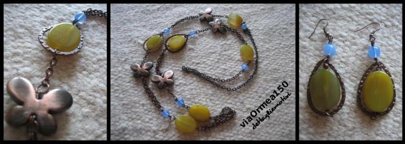 collana giada oreana gialla con farfalle rame antico via Ormea 150 dettagliemotivi